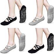 Non Slip Yoga Socks for Women Non Skid with Grips Socks for Yoga, Pilates, Barre, Home & Hospital 4