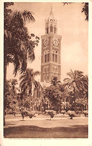 (Fajabai Clock Tower and Bmbay University Gardens Ireland Postcard)