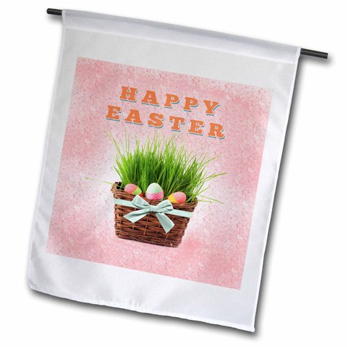 "3dRose fl_174076_2 ""Three Easter Eggs in Basket of Grass,..."