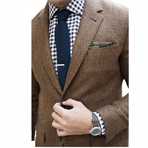 Brightmenyouth Mens Tweed Jacket Custom Made Brown Tweed CoatBespoke Tweed Mens Coat Herringbone CoatsBlazer MasculinoHerringbone Coat MenM