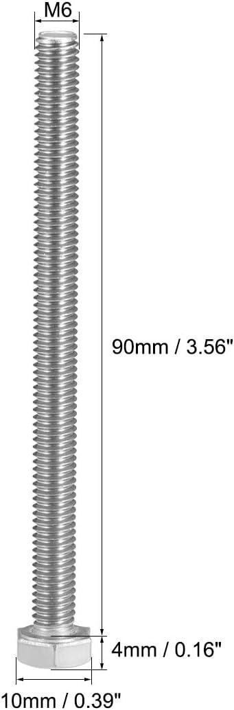 écrous /& rondelles M16 x 50 mm Acier Inoxydable A2 Hexagonal Head Set vis//boulons