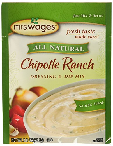 Mrs. Wages All Natural Dressing & Dip Mix, Chiptole Ranch, 0.8 Ounce (Pack of 12)
