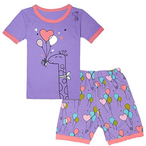 Qtake Fashion Girls Pajamas Balloons Set Children Clothes Set Deer 100% Cotton Little Kids Pjs Sleepwear (Pajamas3, 4T)]()
