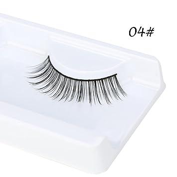 ffba5c60a30 Amazon.com : Eyelashes, False eyelashes, Yezijin 3D Natural Thick False  Fake Eyelashes Eye Lashes Makeup Extension (B) : Beauty