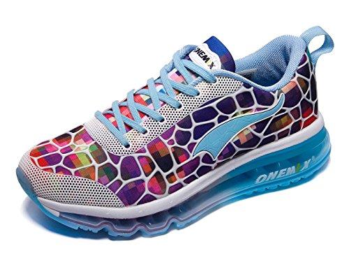 ONEMIX Women's Air Cushiong Running Shoes,Lightweight Sport Athletic Sneakers,Colorful,Men 4(M)US 36EU/women 5.5(M)US 36EU