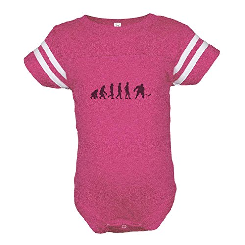 Cute Rascals Evolution of Ice Hockey Baby Kid Football Fine Jersey Bodysuit Hot Pink 12 - Evolution Hockey Jersey