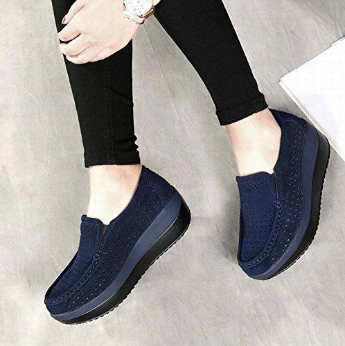 35 donna da Scarpe spesso estate da atletica da SHINIK Blu New moda traspirante scarpe shake fondo Scarpe con casual 40 Mother cave taglia FwR5n5d