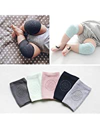 Homieco™ 5 Pairs Unisex Knee Elbow Pads Crawling Safety Protector Kneecaps Children Short Kneepad, Green