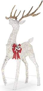Home Accents Holiday 4.5 ft Polar Wishes LED Deer with Bow