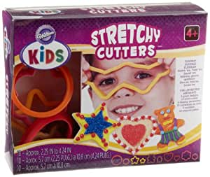 Wilton Kids  Stretchy Silicone Cookie Cutter Set, 10-Piece
