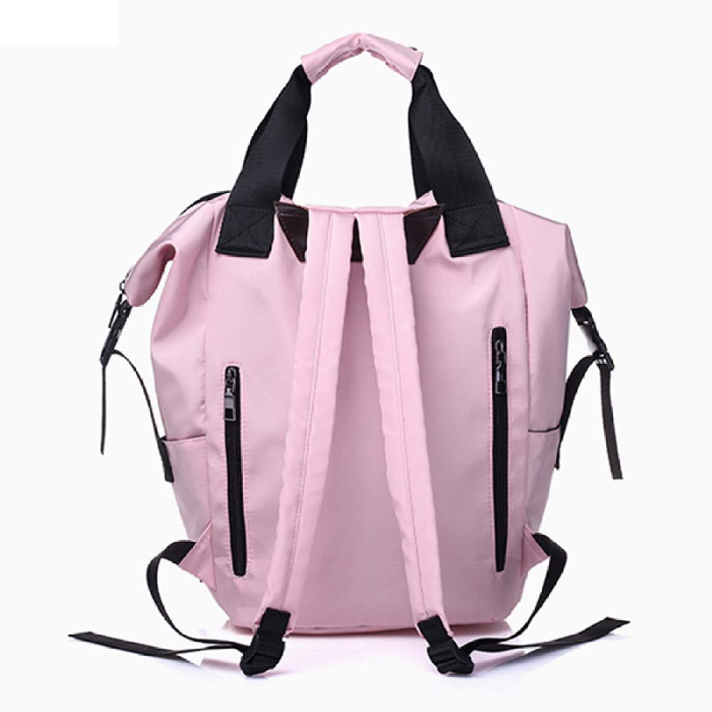 POUPDM Ryggsäck för kvinnor vattentät stor kapacitet skolväskor ledig enfärgad resa bärbar dator ryggsäck tonåringar flickor bokväskor Rosa 02
