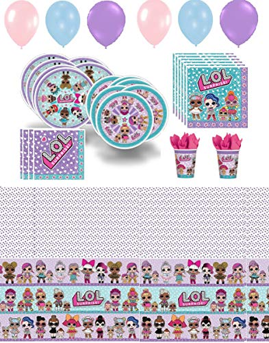 Lol Party Supplies Girl Birthday Decorations Cups Plates Napkins