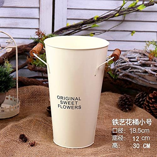 Bigfanshu Dry Flower and Flower Arrangement Barrel, Garden Home Jewelry, Flower Barrel, Flower Pot, Flower Shop, Flower Tin Barrel, Bamboo Tape Barrel