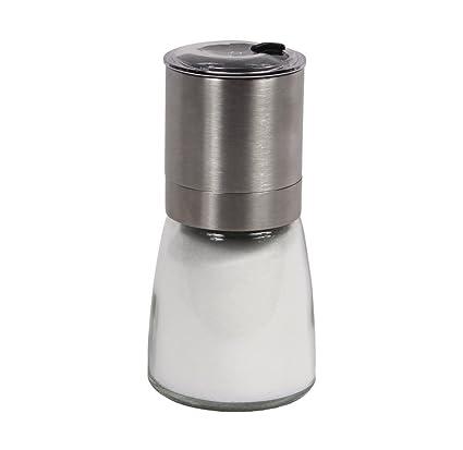 Salt/Pepper U0026 Spice Burr Grinder | Open U0026 Close Shaker Lid | Modern  Stainless