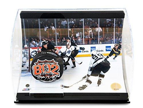 Wayne Gretzky Signed LA Kings 802 Goals Puck - 8x10 in Display Case - Ltd /99