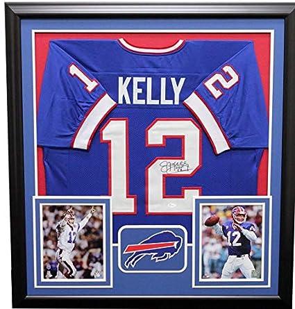 size 40 63ead 387b2 Jim Kelly Buffalo Bills Framed Autographed Signed Jersey ...
