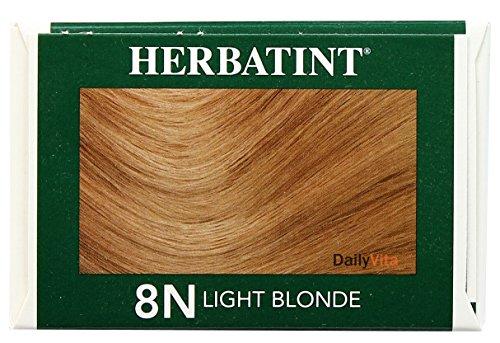Herbatint Permanent Herbal Haircolour Gel 8N Light Blonde -- 135 mL