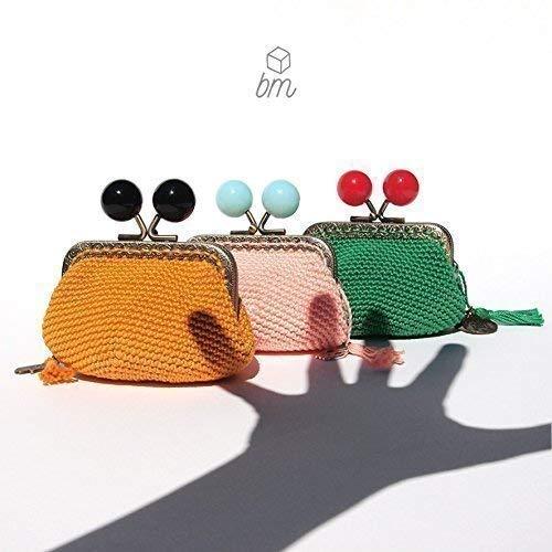 Monedero de estilo vintage de mujer con boquilla tejido en ...
