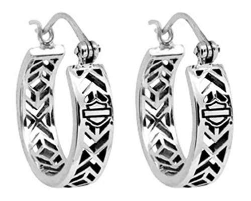 Harley Davidson Womens Earrings Shield HDE0371