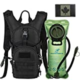 Tactical Molle Hydration Pack Backpack 900D with 2L Leak-Proof Water Bladder, Keep Liquids