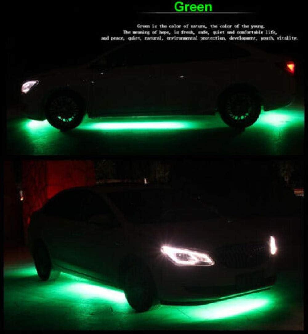 4x 8 Colors Strip Under Car Tube Underglow Underbody System Neon Light Kit