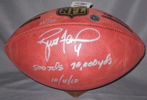 Brett Favre Autographed NFL Football Vikings 500 TD LE