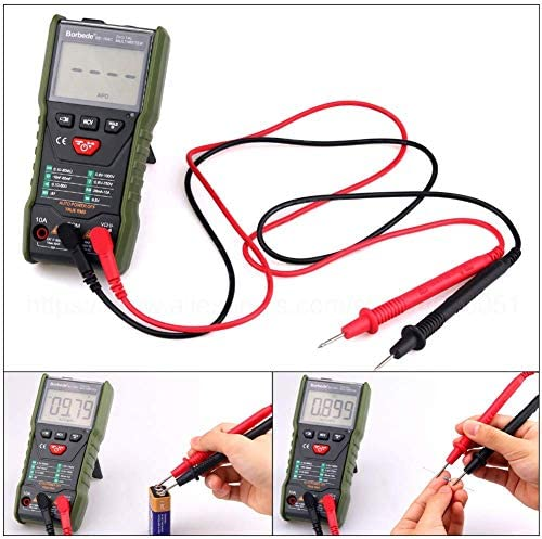 Zjcpow 168C Auto-scanning Digital Multimeter DC AC Voltage Current Capacitance Resistance Tester 6000 Count Portable xuwuhz