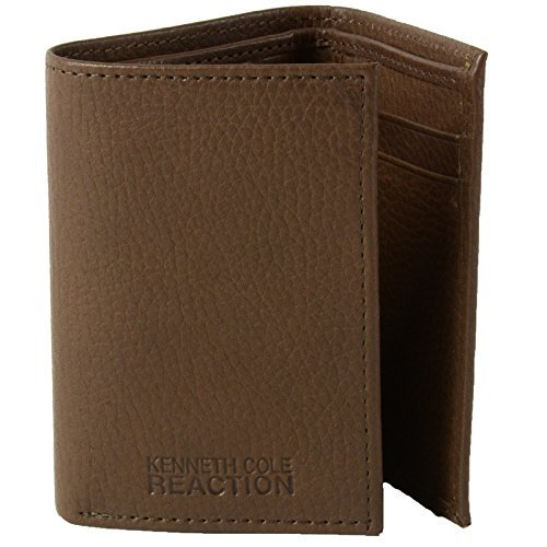 Kenneth Cole ReactionGenuine Leather Trifold Wallet Cuir Authentique ()