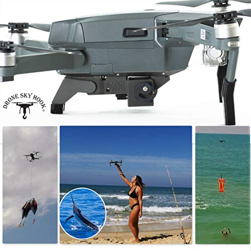 Professional Release and Drop device for Drone Fishing, Bait Release, Payload Delivery, Search & Rescue, Fun Activities for DJI Mavic 1 Pro/Platinum (FOR Mavic 2 use ASIN B07JR7RLYD) by Drone Sky Hook