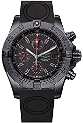 BREITLING Avenger Black Dial Chronograph Rubber Men's Watch M133802C/BC73