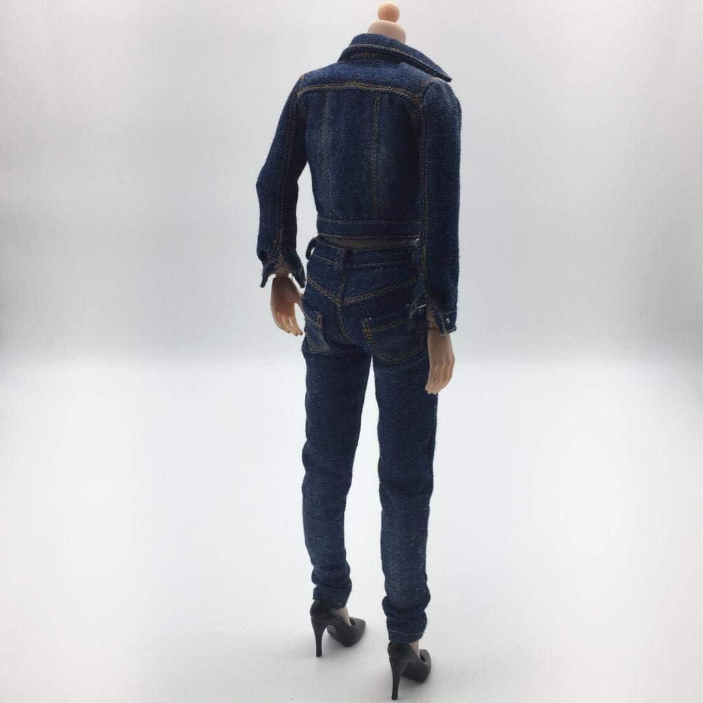 SM SunniMix 1//6 Scale Jacket /& Jeans /& Weste /& High Heel Schuhe f/ür 12  weibliche Actionfiguren