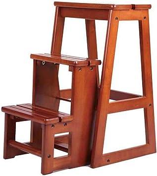 Escalera de biblioteca multifuncional de tres pasos moderna Silla Muebles de biblioteca Silla plegable de madera en forma de taburete Escalera para el hogar: Amazon.es: Bricolaje y herramientas