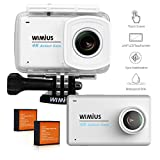 WiMiUS Touchscreen Action Camera 4K 2.45'' LCD Touch Screen 16MP 1080P 30M Underwater Cameras Wifi Waterproof Cam Sports Camcorder 170° Wide-Angle Lens Helmet Camera with Accessories Kit, L3 Silver