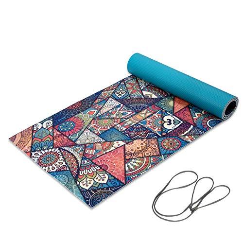Trideer Yoga Mat Premium Print 1 4 Inch 6mm Non Slip