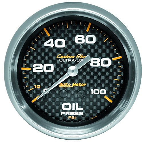 (Auto Meter 4821 Carbon Fiber Mechanical Oil Pressure)