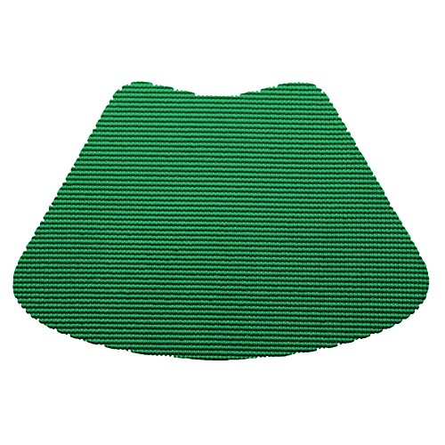 12 Piece Emerald Fishnet Placemat, Traditional Style, Lace Material, Solid Pattern, Wedge Shape, Machine washable, Perfect For Everyday, Fade Resistant And Durable, Medium Hunter Green by PATRIOT HOME