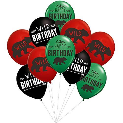 Lumberjack Birthday Party Balloons - 36pcs Woodland/Lumberjack/Wild One Birthday Party Suplies Decorations ()