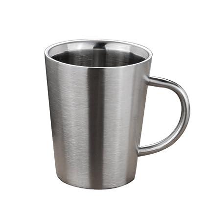 gaeruite tazas de café (acero inoxidable, almohadillas de ...