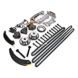 #5: Engine Timing Chain Kit Include Chain Guide Tensioner Sprocket for Buick Enclave Lacrosse Cadillac CTS SRX Chevy Equinox Malibu Traverse GMC Acadia Replace # 9-0753S