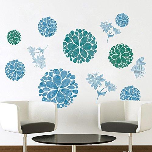 3d diy creative blue flowers