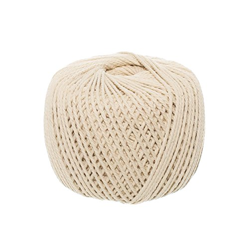 (2mm x 200m (about 218 yd)) Handmade Decorations Natural Cotton Bohemian Macramé DIY Wall Hanging Plant Hanger Craft Making Knitting Cord Rope Natural Color Beige -