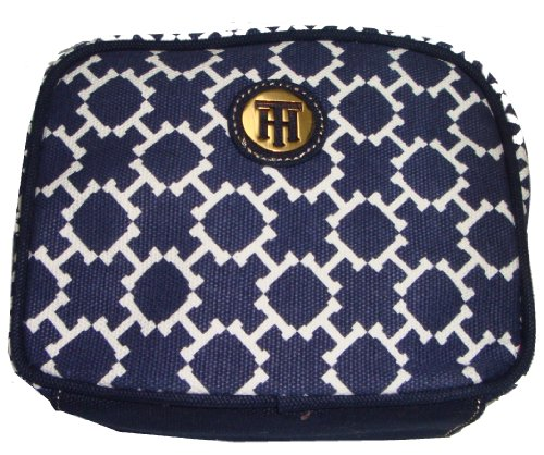 Tommy Hilfiger Women's/Girl's Cosmetic/Make-up Bag, Small, Navy/White