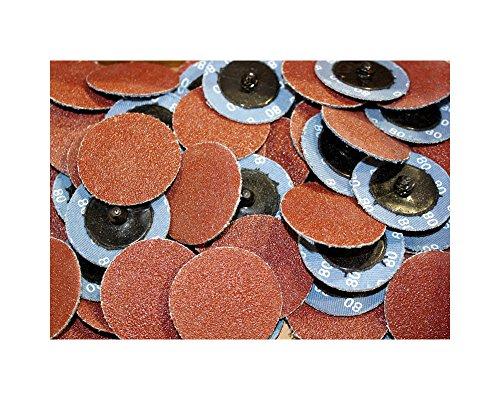 Car Builder Supply CBS-AOK1 Sand Loc Quick Change Typr R Premium Aluminum Oxide AO Grinding Sanding Disc 2'' 150pc Kit 40g 80g 120g by Car Builder Supply (Image #2)
