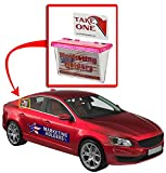 Marketing Holders Pink Outdoor Vehicle Business Card Holder FREE (TAKE A CARD) Sticker included as Pictured (Pink Lid, 6)