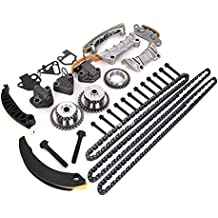 Engine Timing Chain Kit w/Chain Guide Tensioner Sprocket for Buick Enclave Lacrosse Cadillac CTS SRX Chevy Equinox Malibu Traverse GMC Acadia Replace # 9-0753S