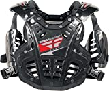 Fly Racing Polisport Fly Racing Convertible II Protective Mini Gear , Distinct Name: Black, Size Segment: Youth, Size Modifier: 40-80lbs, Primary Color: Black, Size: OSFM, Gender: Boys