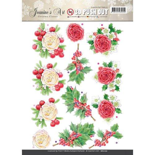 Jeanine's Art Christmas Classics 3D Push Out SB10170 Paper Tole 3-D Decoupage