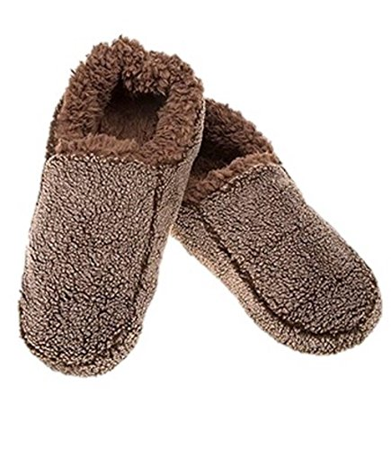 Mules Cosy Xmas Mens Chocolate Warm snoozies Slipper EATvWq