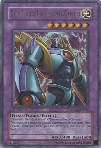 Yu-Gi-Oh Gladiator's Assault - Evil Hero Lightning Golem Ultra Rare GLAS-EN039