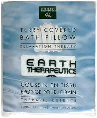 Earth Therapeutics Relaxation Therapy Bath Pillow, Terry Covered, White, 1 pillow (Pack of 3)